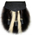 1526-09 Skunk Sporran with Chain Tassels