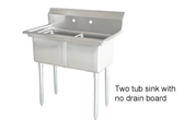 Sink, Double, Stainless, 53""