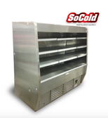 Stainless Steel Refrigerated Deep Low Profile Open Merchandiser 63.5""
