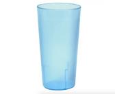 12 oz. Blue Pebbled Plastic Tumbler - 12/Pack