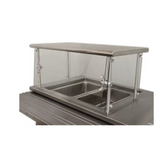 "Advance Tabco Sleek Shield NSGC-12-48 Cafeteria Food Shield with Stainless Steel Shelf - 12"" x 48"" x 18"""
