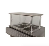 "Advance Tabco Sleek Shield NSGC-12-60 Cafeteria Food Shield with Stainless Steel Shelf - 12"" x 60"" x 18"""