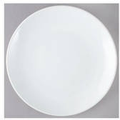 "Acopa 10 1/2"" Round Bright White Coupe China Plate - 12/Case"