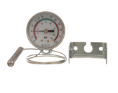 "Thermometer; 100 - 220 Degrees Fahrenheit; 1/2"" Rear Mount U-Clamp"