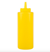 Choice 12 oz. Yellow Squeeze Bottle - 6/Pack