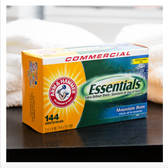 Arm & Hammer 144-Count Essentials Mountain Rain Dryer Sheets