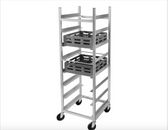 "Channel GRR-8 8 Shelf Glass Rack Cart with 8"" Spacing"