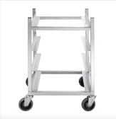 "Channel GRR-83 4 Shelf Glass Rack Cart with 8"" Spacing"