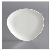 "Acopa Nova 7 1/4"" Cream White Organic Coupe Porcelain Plate - 36/Case"