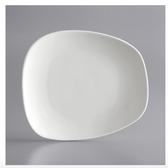"Acopa Nova 8 3/4"" x 7 3/4"" Cream White Asymmetric Plate - 24/Case"