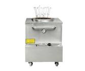 """Stainless Steel Tandoor Clay Oven - Natural Gas - 34"""" x 34"""""""