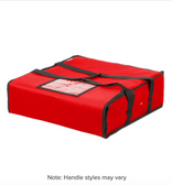 """Choice Insulated Pizza Delivery Bag, Red Nylon, 18"""" x 18"""" x 5"""" - Holds up to (2) 16"""" or (1) 18"""" Pizza Boxes"""