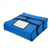 """Choice Insulated Pizza Delivery Bag, Blue Nylon, 18"""" x 18"""" x 5"""" - Holds Up To (2) 16"""" Pizza Boxes or (1) 18"""" Pizza Box"""