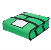 """Choice Insulated Pizza Delivery Bag, Green Nylon, 18"""" x 18"""" x 5"""" - Holds Up To (2) 16"""" Pizza Boxes or (1) 18"""" Pizza Box"""
