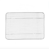 """8 1/2"""" x 12"""" Footed Wire Cooling Rack for One-Fourth Size Bun / Sheet Pan"""