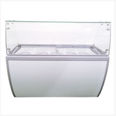 60-INCH ICE CREAM DIPPING FREEZER WITH FLAT SNEEZE GUARD