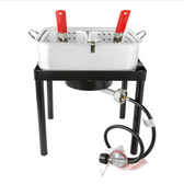 Backyard Pro 18 Qt. Dual Basket Fryer / Fish Cooker - 55,000 BTU