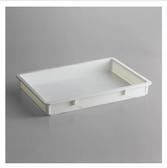"Baker's Mark 18"" x 26"" x 3"" White Heavy-Duty Polypropylene Dough Proofing Box"