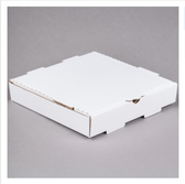 "10"" x 10"" x 2"" White Corrugated Plain Pizza / Bakery Box - 50/Bundle"