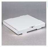 "14"" x 14"" x 2"" White Corrugated Plain Pizza / Bakery Box - 50/Bundle"
