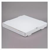 "16"" x 16"" x 2"" White Corrugated Plain Pizza / Bakery Box - 50/Case"