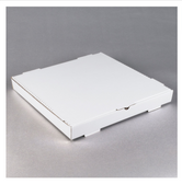 "18"" x 18"" x 2"" White Corrugated Plain Pizza / Bakery Box - 50/Bundle"