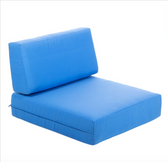 BFM Seating PH6102-CU Belmar Canvas Armchair Cushion Set