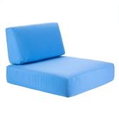 BFM Seating PH6101M-CU Belmar Canvas Armless Chair Cushion Set