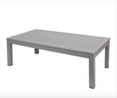 BFM Seating PH6104SG Belmar Soft Gray Aluminum Coffee Table