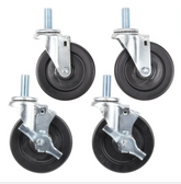 """Garland and Sunfire Equivalent 5"""" Stem Casters for SunFire X24, X36, X60 and Garland / U.S. Range G, GF, GFE, and U Series Ranges - 4/Set"""