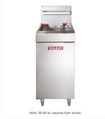 Vulcan LG500 65-70 lb. Natural Gas Floor Fryer - 150,000 BTU