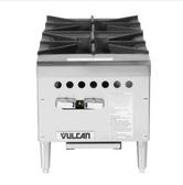 "Vulcan VCRH12 Gas 12"" 2 Burner Countertop Range / Hot Plate - 50,000 BTU"