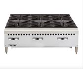 "Vulcan VCRH36  Gas 36"" 6 Burner Countertop Range / Hot Plate - 150,000 BTU"