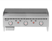 """Vulcan VCRG36-T Gas 36"""" Countertop Griddle with Snap-Action Thermostatic Controls - 75,000 BTU"""