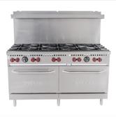 "Vulcan SX60-10B Gas 10 Burner 60"" Range with 2 Standard Ovens - 340,000 BTU"