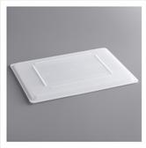 """Choice 26"""" x 18"""" White Plastic Food Storage Box Lid"""