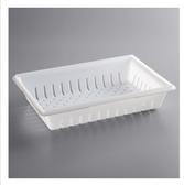 "Choice 26"" x 18"" x 5"" White Plastic Food Drain Box / Colander"