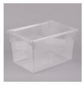 "Choice 26"" x 18"" x 15"" Clear Plastic Food Storage Box"