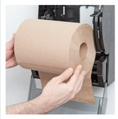 "Lavex Janitorial 8"" Natural Kraft Hardwound Paper Towel, 800 Feet / Roll - 6/Case"