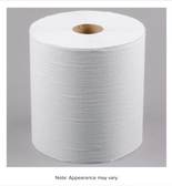 """Lavex Janitorial 8"""" White Hardwound Paper Towel, 800 Feet / Roll - 6/Case"""
