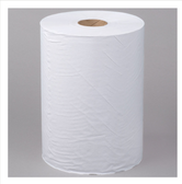 """Lavex Janitorial 10"""" White Hardwound Paper Towel, 800 Feet / Roll - 6/Case"""