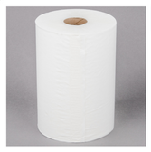 """Lavex Janitorial 10"""" White Aircell (TAD) Premium Paper Towel, 700 Feet / Roll - 6/Case"""