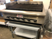 """Used Wells 36"""" Charbroiler Natural Gas with stand"""