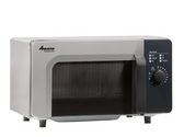 Amana RMS10DSA Stainless Steel Commercial Microwave with Dial Controls - 120V, 1000W