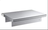 "16-Gauge Type 304 Stainless Steel Pass-Through Shelf with Overshelf - 18"" x 48"""