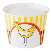 Choice 85 oz. Chicken Bucket with Lid - 100/Case
