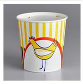 Choice 130 oz. Chicken Bucket with Lid - 120/Case