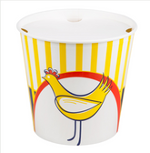 Choice 170 oz. Chicken Bucket with Lid - 120/Case