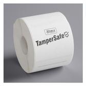 """TamperSafe 2 1/2"""" x 6"""" Customizable White Paper Tamper-Evident Label - 250/Roll"""