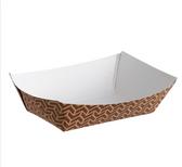 Carnival King #25 4 oz. Cornerstone Paper Food Tray - 1000/Case
